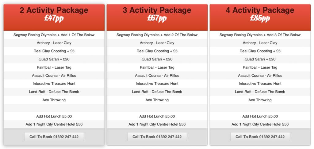 Multi Activity Packages Devon