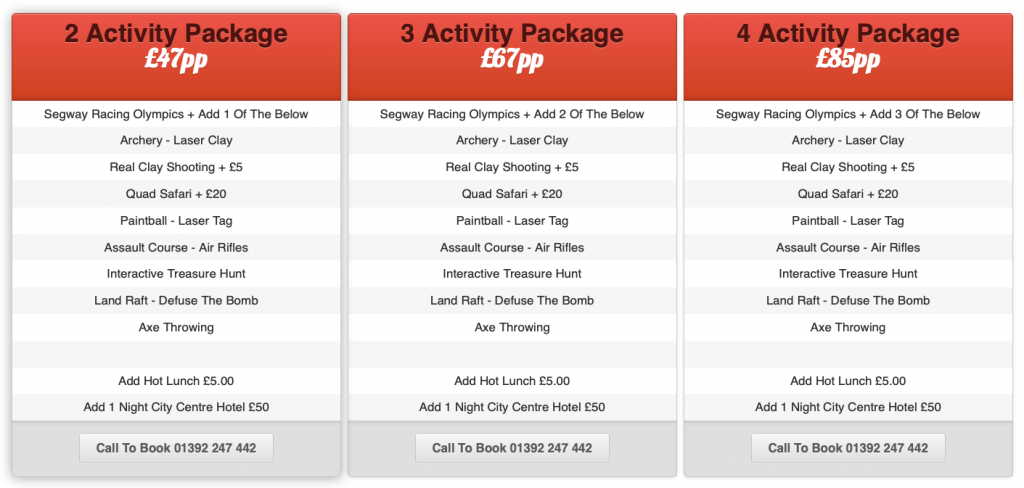 Multi Activity Packages Devon
